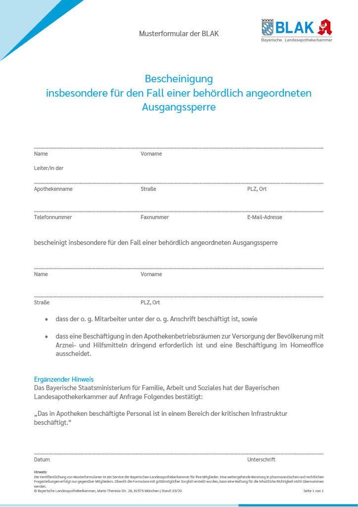 Muster Von Bescheinigungen Hamburg De 2